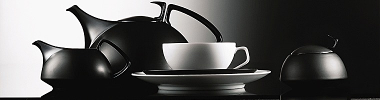 fair kaeuflich de rosenthal tac black gropius tea service. Black Bedroom Furniture Sets. Home Design Ideas