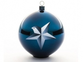 Alessi AAA07 1 - Weihnachtskugel aus Glas Blue Christmas