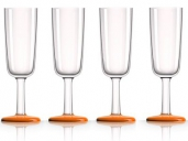 Marc Newson Unbreakable Drinkware Flute 4 Pcs. Set Orange