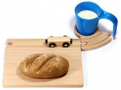 Neue Freunde Train Breakfast Set Blue 4Pcs.