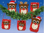 Adventskalender DIY-Set 24 T�ten & Little Raindeer B�gen