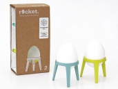 rocket - The Egg Cup without the Cup 2Pcs. Set Turquoise/Lime